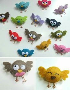 Passarinho cute mini felt birds