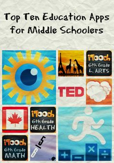 Top Ten Education Apps for Middle Schoolers These apps are great for engaging older students without being too boring or babyish!