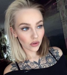 """""""definitely getting sick, but i managed to look human today. my hair is even clean... it's shocking hair @emily_snips face #maybelline fit me…"""""""
