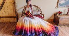 Dip Dye Wedding Dress Trend Will Make Your Big Day More Colorful | Bored Panda