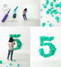 DIY party decorations: balloon backdrop or wall art - Balloon Decorations 🎈 Balloon Backdrop, Balloon Garland, Balloon Ideas, Balloon Party, Baloon Diy, Ballon Arch Diy, Diy Party Backdrop, Baloon Decor, Rainbow Balloon Arch