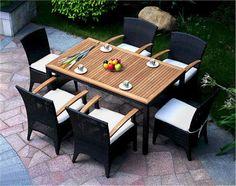 Bellagio-Dining-set-Table-Chairs-Rattan-Teak-Patio-Set