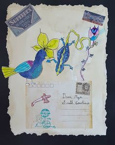 MaryMaking: Geninne Inspired Mail Art Collages