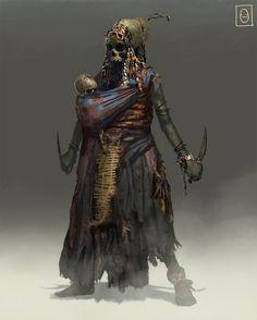Pirate Skeleton Witch, Ken Fairclough on ArtStation at http://www.artstation.com/artwork/pirate-skeleton-witch