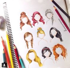 An artist I follow on Instagram drew the Disney Princesses Hair cool!