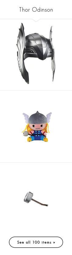 """""""Thor Odinson"""" by mcu-marvel-creations ❤ liked on Polyvore featuring marvel, collection, film, thor, chrishemsworth, avengers, accessories, armor, comic and 58. stuffed animals/dolls/toys."""