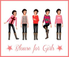 Blouse for Girls at Nathalia Sims via Sims 4 Updates