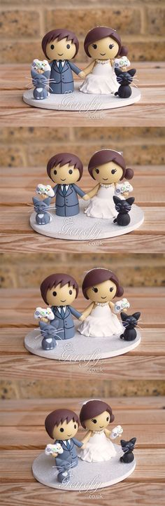 Xbox fans bride and groom with cats by Genefy Playground https://www.facebook.com/genefyplayground