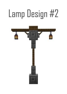 Medieval Street Lamp Design - Mine Minecraft World Minecraft Lampe, Minecraft Bauwerke, Villa Minecraft, Construction Minecraft, Minecraft Mansion, Minecraft Structures, Cute Minecraft Houses, Minecraft House Tutorials, Amazing Minecraft