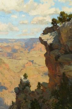 "Bill Cramer, Life on the Edge, oil, 36 x 24. (In August's ""Eyes on the Skies"" Portfolio)"