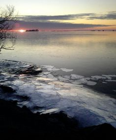 I can almost hear the ice crackling against the shore.