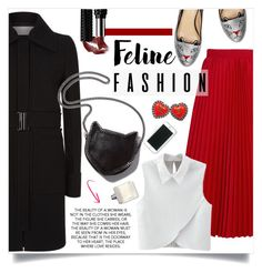 """""""Feline Fashion"""" by vickykirkpatrick on Polyvore featuring Balenciaga, WithChic, Victoria, Victoria Beckham, STELLA McCARTNEY, Charlotte Olympia and Chanel"""