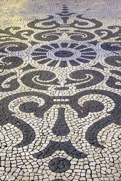 Portuguese stones Pavement, Lisbon