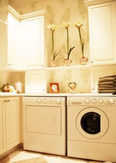 Laundry Room Feng Shui Quick fix: In your laundry room, garage or closet, hang a painting or photo of a landscape to foster a sense of balance.