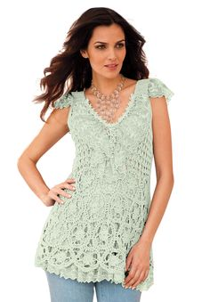 seafoam lace top