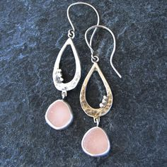 Sea Glass Jewelry Earrings in Rare Pink Beach by MonicaBranstrom