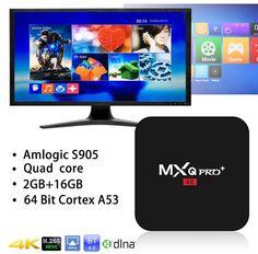 CPU: Amlogic Quad-Core Cortex Processor 1 x MXQ Pro Android TV Box. Quad, Cable Tv Box, Local Movies, Bluetooth, Home Internet, Home Network, 4k Uhd, Best Android, Smart Tv