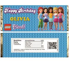 Lego Friends Themed Chocolate Bar Wrappers. by Crea8iveDesign