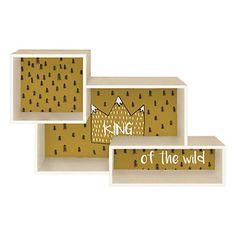 Etagère Mix King of the Wild   Beige et camel   60 x 18 x 40 cm