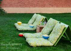 Movie night! This would be a fun idea for a family-friendly backyard DIY