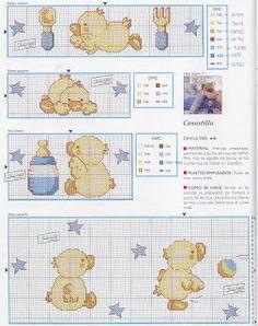 Enxoval Ponto Cruz by Núbia Cortinhas: Patinhos para os babys!