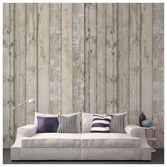 Papier peint - Arte - SCRAPWOOD - Gris/ effet bois