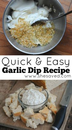 Quick and Easy Garlic Dip Recipe - SheSaved®
