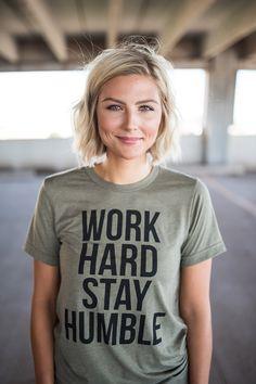 21d697e1c Ramble Apparel, Work Hard Stay Humble, handprinted graphic tees, fashion graphic  tee,