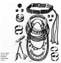 Latgallian, Iron Age Baltic proto-Latvian women's jewellery with headband.