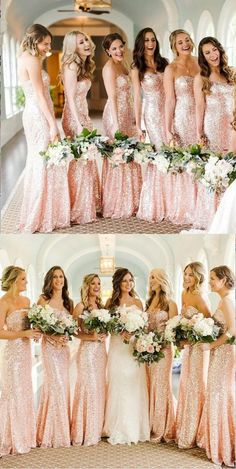 Sweetheart bridesmaids dresses - Shining Sparkly Popular New Mermaid Sweetheart Strapless Long Rose Gold Sequin Bridesmaid Dresses, – Sweetheart bridesmaids dresses Sparkly Bridesmaids, Mermaid Bridesmaid Dresses, Mermaid Dresses, Bridesmaid Ideas, Bridesmaid Outfit, Blush Sequin Bridesmaid Dress, Prom Dress, Vestido Rose Gold, Rose Gold Dresses
