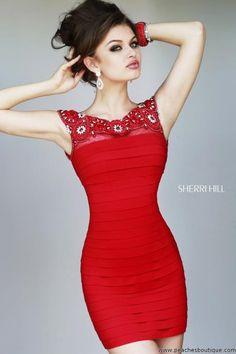 Sherri Hill Short Fitted Prom Dress 32047