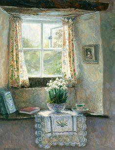 Snowdrops in the Inglenook - Stephen Darbishire
