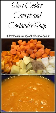 This recipe is for Slow Cooker Carrot and Coriander Soup. Carrot and coriander…