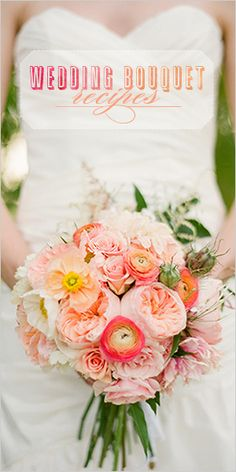 A bountiful and lush bouquet can complete your wedding looks. Dreamy florals in an array of colors. Our wedding bouquet recipes are sure to leave you speechless. Wedding Bouquets, Wedding Flowers, Wedding Dresses, Ranunculus Wedding, Ranunculus Bouquet, Wedding Mandap, Bouquet Flowers, Wedding Receptions, Wedding Colors