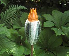"""große """"Wunderblumen KNOSPE"""" weiß-grün-orange"""