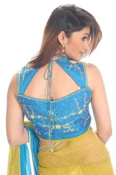 Saree Blouse Designs | Sleeveless Blouse Designs for Sarees