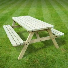 Oakham Rounded Picnic Bench Sol 72 Outdoor Finish: Light Green, Table Size: L x W Wooden Garden Furniture, Rattan Outdoor Furniture, Outdoor Tables And Chairs, Garden Table And Chairs, Green Table, Furniture Sets, Round Picnic Table, Outdoor Mirror, Table And Bench Set
