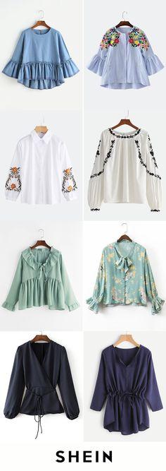 Long sleeve blouses