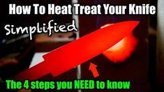 How to Heat Treat a Knife Simplified - great overview of the process Forging Knives, Blacksmithing Knives, Blacksmithing Beginners, Blacksmith Tools, Blacksmith Projects, Knife Making Tools, Diy Knife, Heat Treating, Knife Sharpening