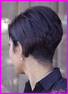 Back view of short hairstyles stacked - Hairstyles - Fashion - Makeup - Style