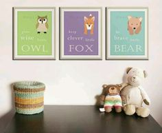 Cute nursery art