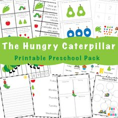 The very hungry caterpillar activities Very Hungry Caterpillar Printables, Hungry Caterpillar Craft, Do A Dot, Bug Crafts, Literacy Activities, Preschool Math, Kindergarten Worksheets, Chenille, Fun Learning