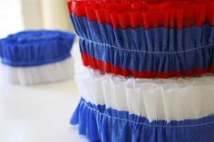 DIY red white and blue streamer decorations - Great for Memorial Day or the 4th of July