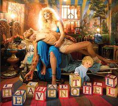 Kurt Cobain Courtney Love, by David LaChapelle
