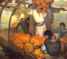 Saturnino Herrán The Offering Oil on canvas 1913, Mexico