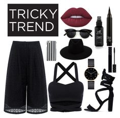 """Sin título #25"" by blackunicornsarecool ❤ liked on Polyvore featuring Edit, Lime Crime, Gucci, MICHAEL Michael Kors, rag & bone, TrickyTrend and culottes"