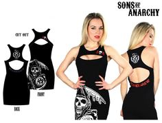 BikerOrNot Store - Sons of Anarchy - Ladies Cut Out Dress, $24.97 (http://store.bikerornot.com/sons-of-anarchy-ladies-cut-out-dress/)