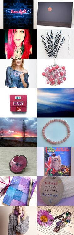 Pink Moon in a Sea of Blue! by spoiledfelines1 on Etsy--Pinned with TreasuryPin.com #integritytt #promotingwomen #123team