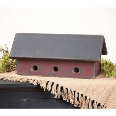 Large 3 Hole Birdhouse in red Porch Decorating, Decorating Ideas, Country Front Porches, Outdoor Stuff, Outdoor Decor, Primitive Country, Crafty Craft, Birdhouses, Bats