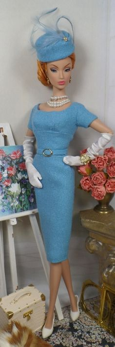 Being Blue for Silkstone Barbie and Victoire Roux on Etsy - Matisse Fashions